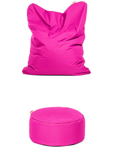 Výhodný set Sofa a Puf Polyester Ružová