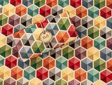 Gobelínový prehoz Geometria