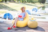 Tuli Relax Snímateľný poťah - Soft Yellow