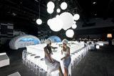 GLOBO exteriérová lampa biela priemer 50cm