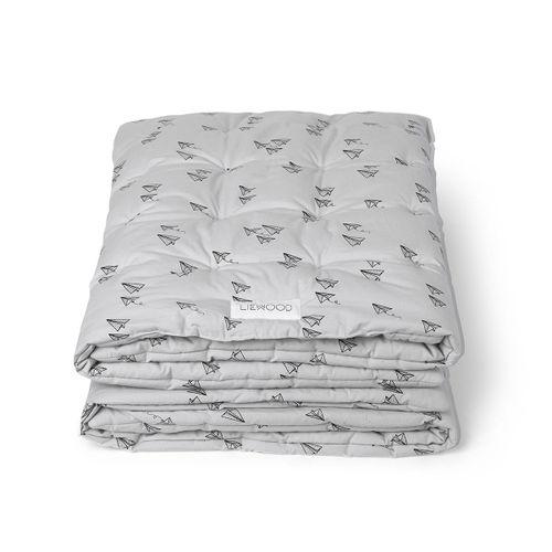 AGNES detská deka lietadielka a sivá