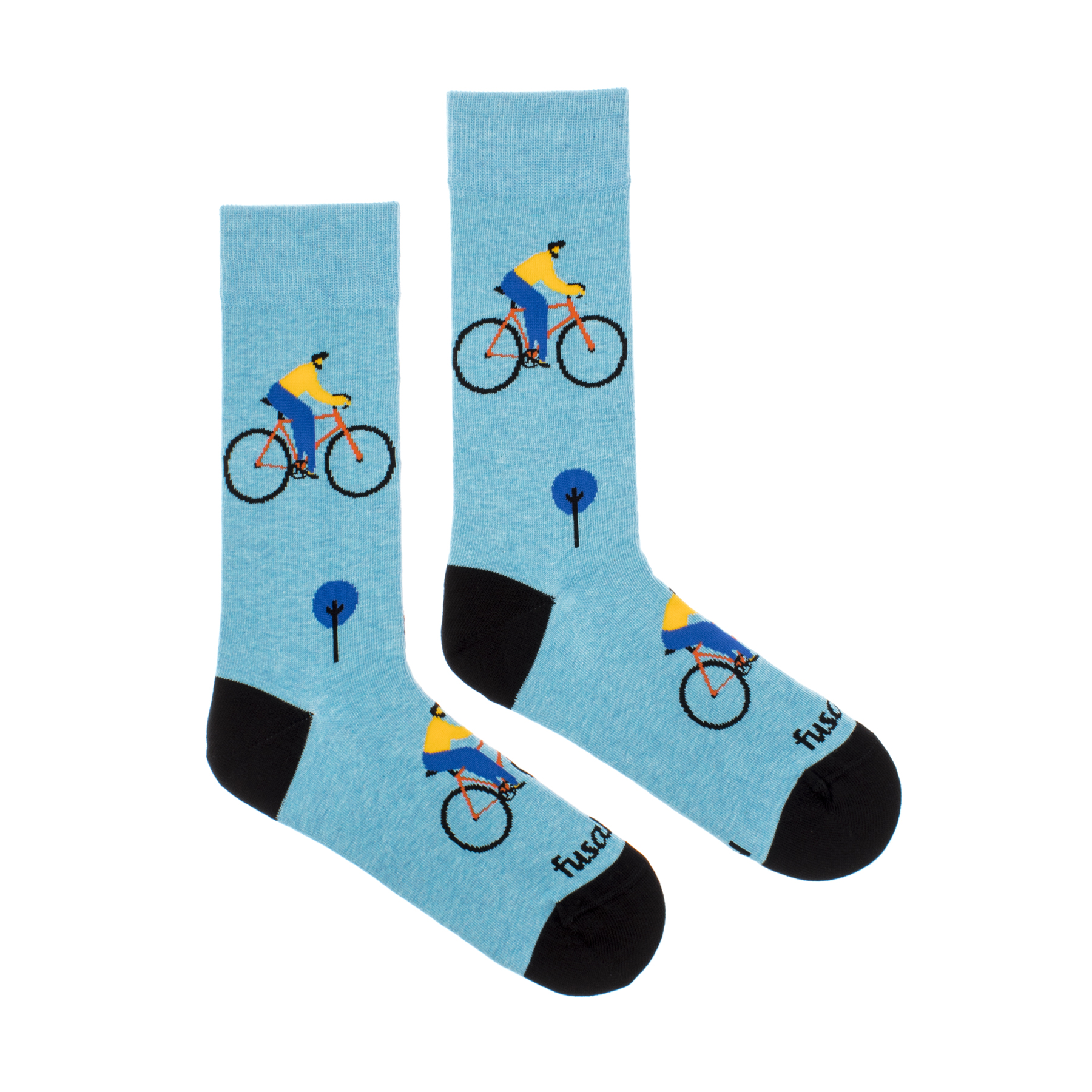 Fusakle Dospelácke ponožky UNISEX - Cyklista v meste - Veľkosť 35–38