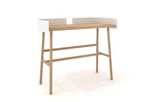 B desk pracovný stôl masív dubový a biely