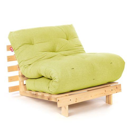 Tuli Futón Pohovka Suki - Prírodná+Svetlo zelená