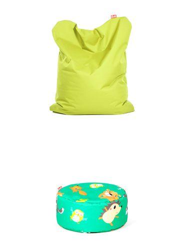 Výhodný set Funny Polyester Neónová + Puf Polyester vzor Lesné zvieratká