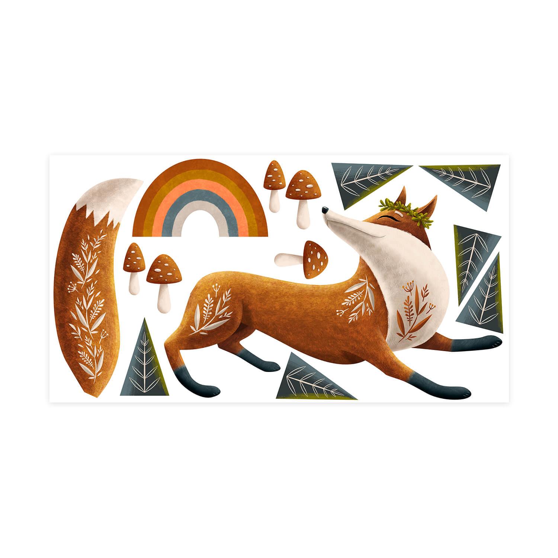 Samolepka na stenu - Foxy