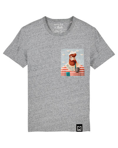 Tuli Detské tričko UNISEX Šedé - Námorník